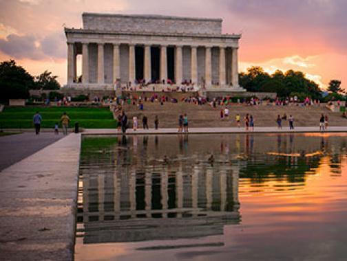 Lincoln Memorial im Sommer