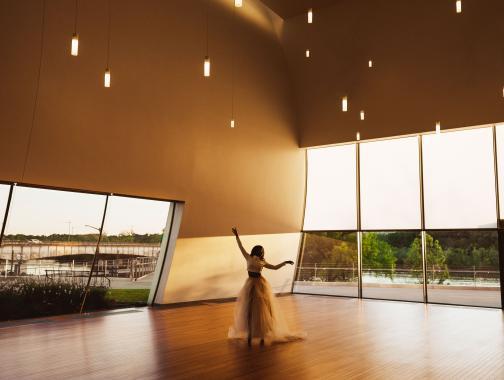 Tänzerin in The Reach im Kennedy Center