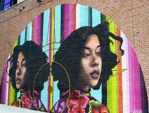 @jbandphotos Mural de Mariela Ajras en Union Market DC