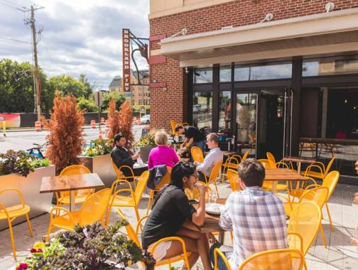 Diners on patio at Brookland Pint - Restaurant and bar in Brookland Washington, DC