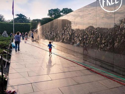 Free historic sites and heritage experiences in Washington, DC - Morning at the Korean War Veterans Memorial on the National Mall